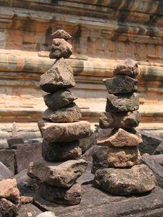 Rock piles at Siem Reap, Cambodia