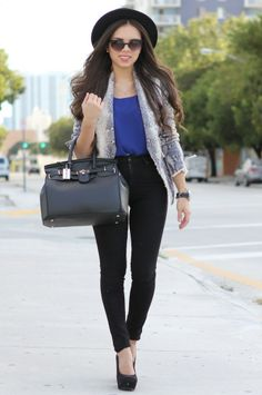 One of my favorite fashion bloggers, Nany. Her outfits are flawless :)