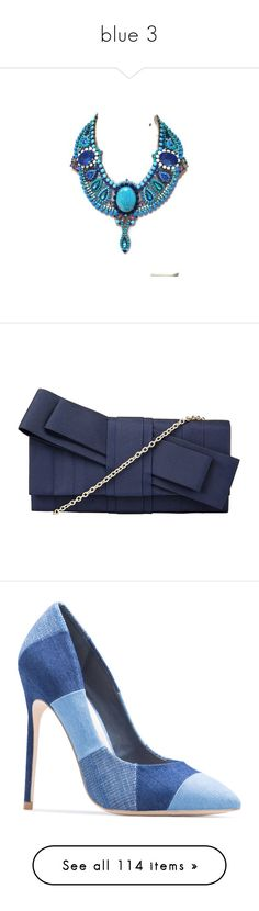 """""""blue 3"""" by mimmiandkinkistatementjewelry ❤ liked on Polyvore featuring bags, handbags, clutches, navy, hand bags, party clutches, blue clutches, evening clutches, evening purses and shoes"""