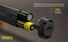 Nitecore EC4 XM-L2 U2 1000LM Handheld LED Flashlight 322m Sale - Banggood.com