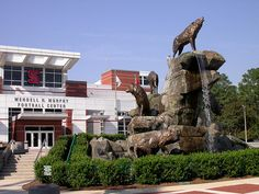 Raleigh, NCSU, Wolf Pack Monument by Oncle Bernard, via Flickr