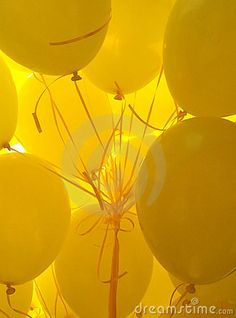 Yellow Balloons by Hedy De Bats, via Dreamstime