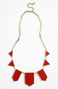 House of Harlow 1960 Leather Station Necklace available at #Nordstrom (comes in black and other colors, too)