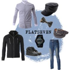 """Casual fashion for men"" by flatseven on Polyvore #FLATSEVEN #Outfit #ideas #fashion #mens #clothing www.flatsevenshop.com"