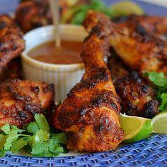 Crispy Tandoori Chicken Drumsticks with Mango Chutney