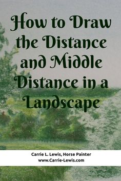 How to Draw the Distance and Middle Distance in a Landscape  using colored pencil.