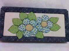 Agenda de bolsa flores azuis