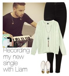 """""""Recording my new single with Liam"""" by little-bells ❤ liked on Polyvore featuring Topshop, Monki, Converse, Wet Seal, Smashbox, ASOS, OneDirection, LiamPayne, 1d and onedirectionoutfits"""