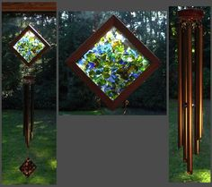 Gorgeous glass & pipe windchime