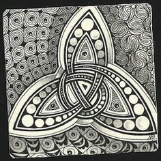 Enthusiastic Artist: Triquetra strings ~ by Certified Zentangle Teacher Margaret Bremner