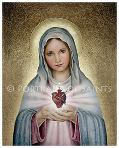 the immaculate heart of mary fine art   The Immaculate Heart of Mary, Virgin Mary, Our Lady, Catholic Art ...
