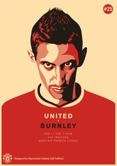 Match poster. Manchester United vs Burnley, 11 February 2015. Designed by @manutd.