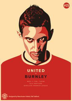 Match poster. Manchester United vs Burnley, 11 February 2015. Designed by @manutd.