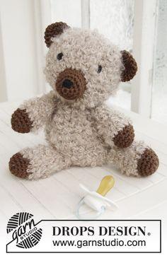 """Paddy - Ours DROPS au crochet, avec 1 fil """"Puddel"""" ou 2 fils """"Alpaca Bouclé"""" et en """"Paris"""". - Free pattern by DROPS Design"""