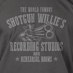 WILLIE NELSON inspired Shotgun Willie country outlaw T-shirt