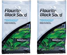 Seachem Fluorite Black Sand Substrate, 15.4lb Total (Two 7.7lb Bags) -- Visit the image link more details.