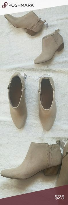 Old Navy Ankle Booties Old Navy Ankle Booties. Sand colored. NWT Old Navy Shoes Ankle Boots & Booties