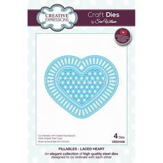 Creative Expressions Craft Dies Laced Heart - Stanzschablone Herz, AF