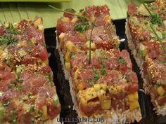 ceviche atun fresco | Tártara de atun con mango y aguacate