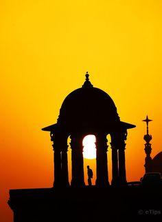 Sunset in New Delhi, India   by eTips Travel Apps http://www.etips.com/
