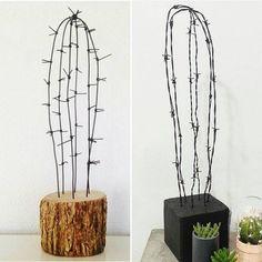 deko fraht – deko fraht – – About jewelry organizer diy Paper Cactus, Cactus Craft, Cactus Decor, Wire Crafts, Fun Crafts, Diy And Crafts, Arts And Crafts, Welding Crafts, Diy Jewelry Unique