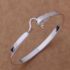 Silver Hook Bangle Bracelet