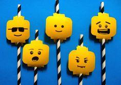 LEGO Birthday Straw Flags Minifigure Figurines Set of by Devany, $9.00