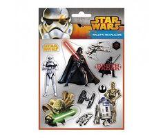 Star wars Silver Stickers vel A6 plus briefkaart