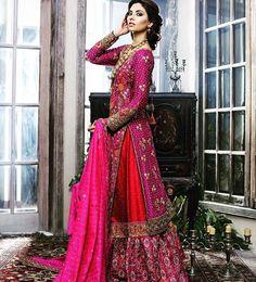 Pinterest: @pawank90 Bridal Anarkali Suits, Pakistani Wedding Dresses, Indian Dresses, Indian Suits, Pakistani Bridal Couture, Indian Bridal, Bridal Outfits, Bridal Dresses, Desi Bride