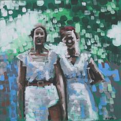 Two girlfriends Girlfriends, David, Painting, Art, Art Background, Painting Art, Kunst, Paintings, Performing Arts