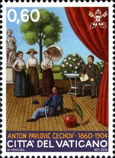 Literary Stamps: Chekov, Anton (1860-1904)