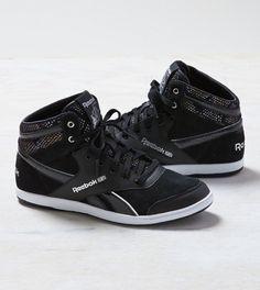 Black Reebok Hi-Top Sneaker