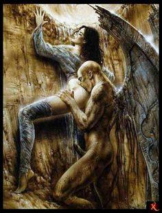 Luis Royo...disturbingly erotic... had to repin it... made me feel...