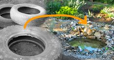 Make A Backyard Pond Out Of An Old Tire - Great tutorial with photos. You won't…