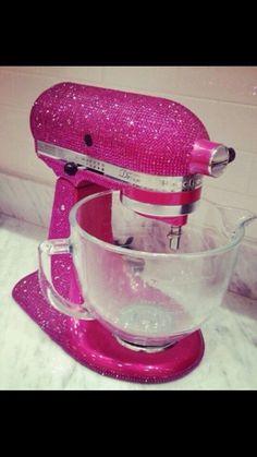 Sparkly & pink kitchen aide mixer ♥