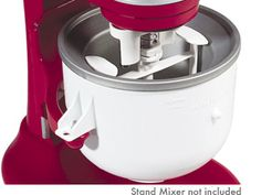 Kitchenaid ice cream maker attachment. I have the Australian version which has a different way to fix the bowl to the mixer, than the US version