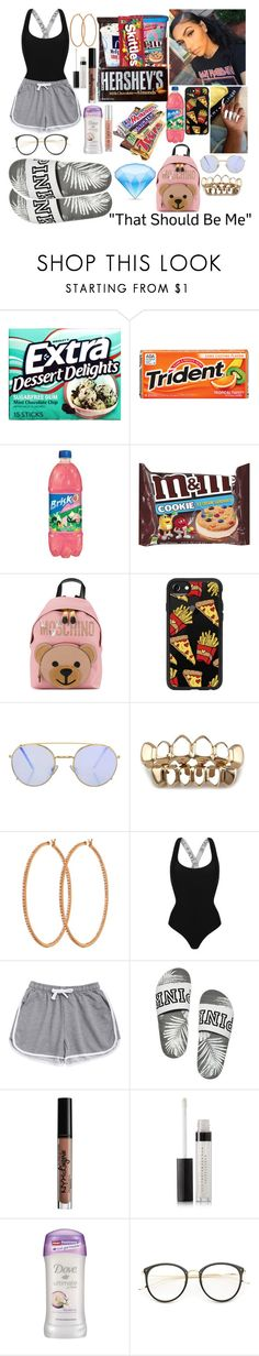 """""""🌯"""" by slaybxby ❤ liked on Polyvore featuring Junk Food Clothing, Cotton Candy, Moschino, Casetify, Topshop, Henri Bendel, Kendall + Kylie, NYX, Estée Lauder and Dove"""