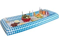 Use a pool to keep cool the food that can spoil with the sun fabulous finds for outdoor entertainment