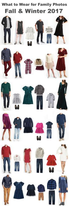 what to wear for family photos fall & winter 2017 - family portraits - clothing ideas for family photography -Mrs. Midcoast – Musings from the Heart of America Family Portrait Outfits, Family Picture Outfits, Family Portraits, Family Photos What To Wear, Winter Family Photos, Family Pics, Fall Photos, Holiday Party Outfit, Holiday Outfits
