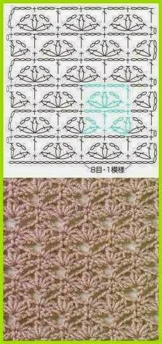 New motifs, really nice. Can be used as a lace for some edges, and as patterns for scarves, blouses ...