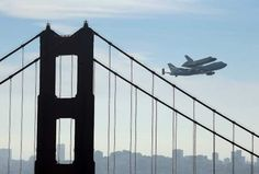 Shuttle Endeavour: Picture perfect over San Francisco, Golden Gate
