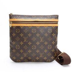 Louis Vuitton Pochette Bosphore Monogram Cross body bags Brown Canvas M40044