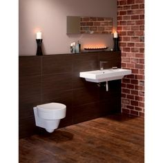 Losan Designer Wall Hung Bathroom Suite with Toilet and Basin Wall Hung Toilet, Furniture Today, Complete Bathrooms, Bathroom Suite, Bathroom Suites, Bathroom Furniture, Stylish Space, Basin, Bathroom Design