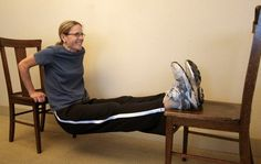 Back and Core Exercise Routine: The Chair Dip Exercise