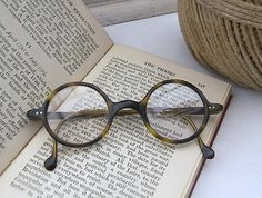 Vintage Tortoiseshell Spectacles Antique Round by vjjjjdesigns, $25.00