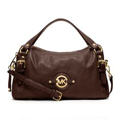 #MichaelKorsBags Excllent Michael Kors Stockard Shoulder Medium Coffee Satchels Guard You All The Time, You Deserve To Have One!