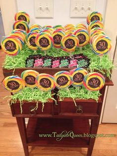 30th Birthday Idea! 30 Sucks lollipops, and 30 rocks pop rocks.