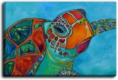Patti Schermerhorn's 'Seaglass Sea Turtle' | Canvas Wall Art Unique