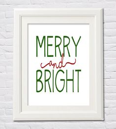 Instant Download Merry and Bright Christmas by FourHappyFaces