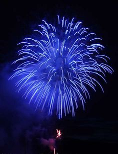 Blue fireworks: pair this with McDuff Saves The Day by Rosemary Wells for 4th of July fun!